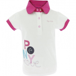 Polo Poney love Equi-Kids blanc