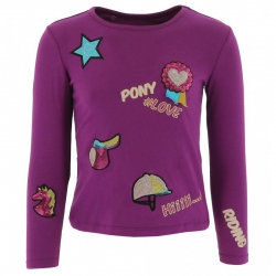T-shirt Equi-Kids Pony Love badges