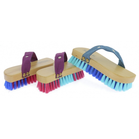 Brosse douce Hippo-Tonic Magnet Brush - bicolore